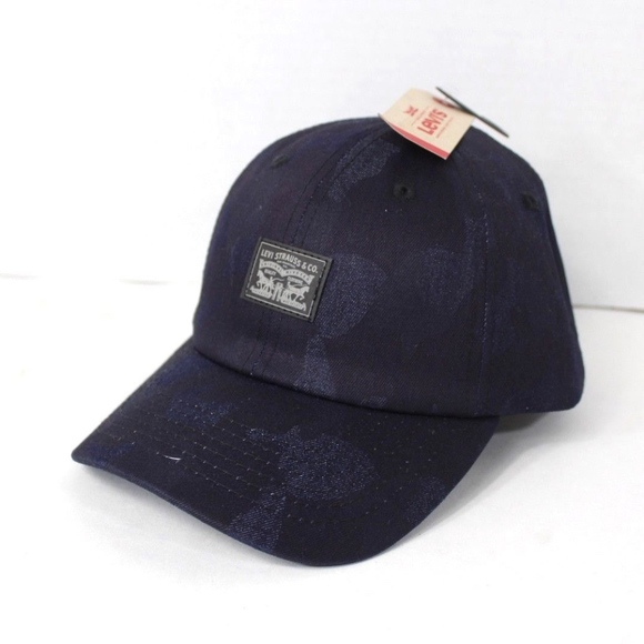 a58e113629b New Levi s Spell Out Waxed Denim Snapback Hat Blue